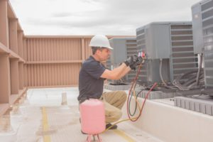how to check the refrigerant level of an AC
